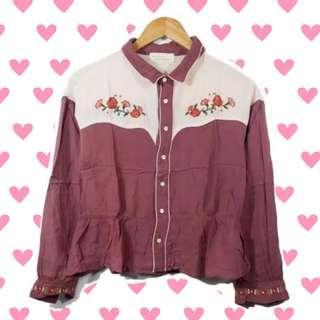 #JAN25 Korean flower vintage shirt top