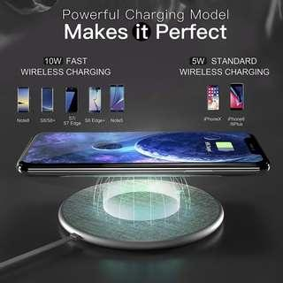 (943)Auckly Fast Wireless Charging Pad, Jean Fabric