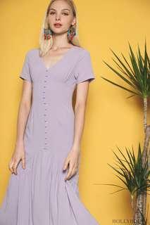 BNWT Hollyhoque Macy Button down dress periwinkle