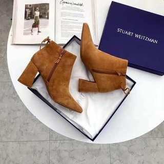 StuartWeitzman麂皮短靴