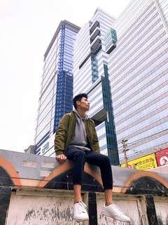 秋冬系列Army green jacket