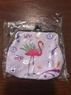 Flamingo coin pouch