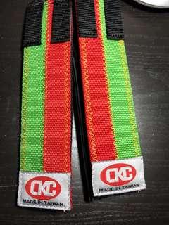 CKC  Velcro Pedal Bike Bicycle Fixie Track Toe Clip Colored Foot Straps