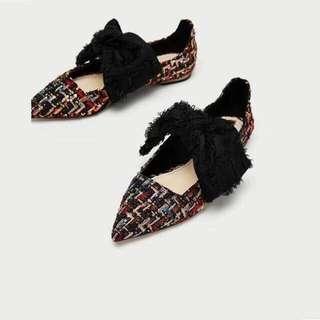 Zara flats knit