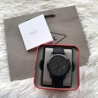 OFFER !! Fossil Original FS5132P GRANT CHRONOGRAPH BLACK LEATHER WATCH