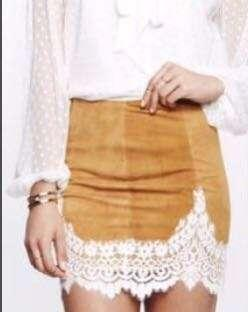For Love and Lemon's Lace Skirt (Size Small)