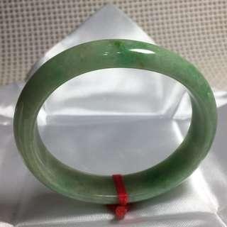 天然翡翠A貨 - 滿綠貴妃鐲