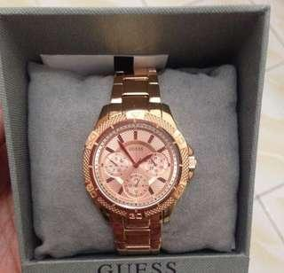 Guess Authentic / Original Rosegold Watch / Jam Tangan