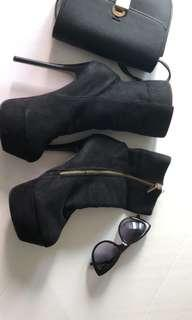 Christian louboutin inspired suede boots