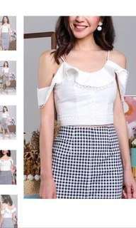 TVD Wuthering Heights Crochet Top in White