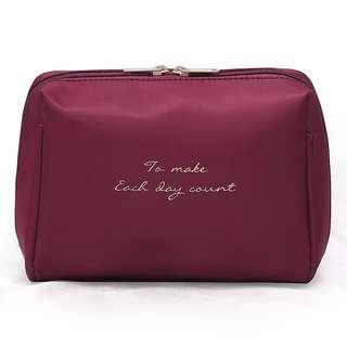 Wine Red Box Pouch