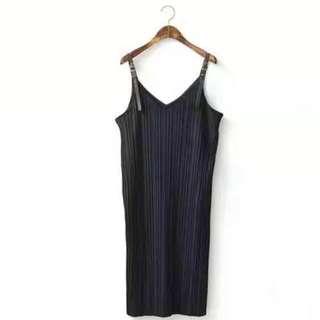 Velvet Black Spag Dress Size M