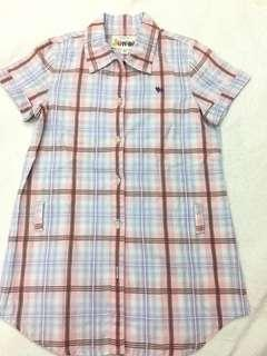 Giordano pink checkered blouse size 5-6