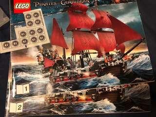 Lego加了大量改件 4195 Queen Anne's revenge Pirates of Caribbean 4184