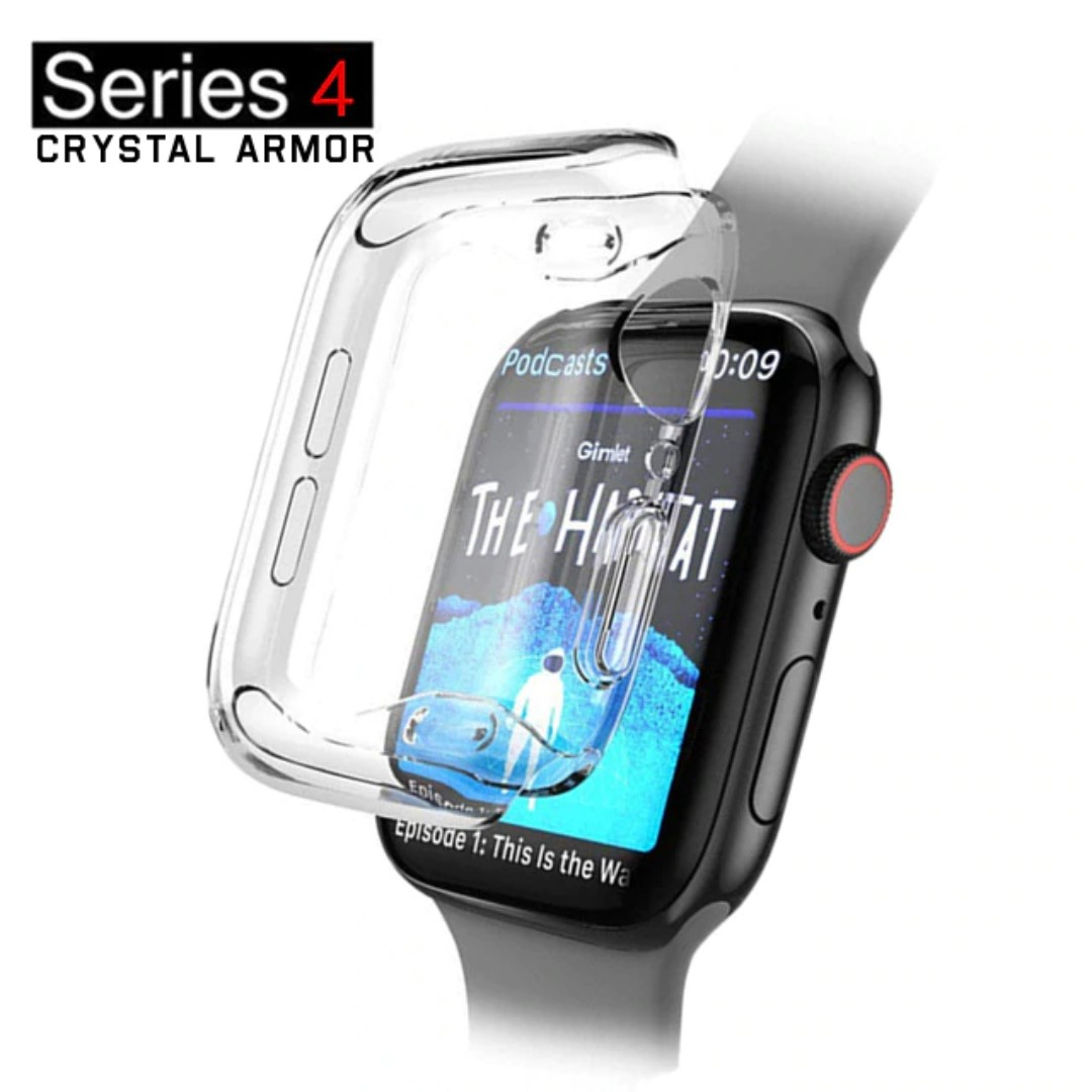 new style a3cca 9b476 44MM / 40MM Apple Watch 4 Crystal Armor Clear Case Cover