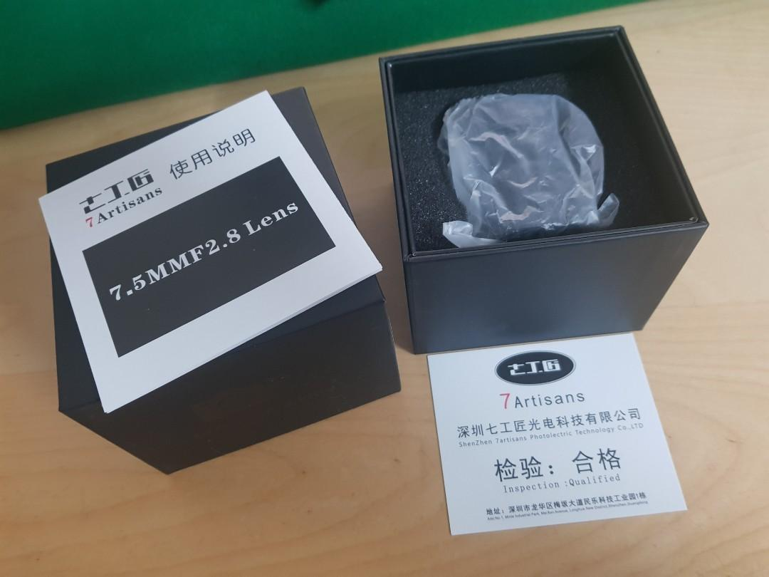 7artisans 7.5mm f2.8 Sony E-Mount