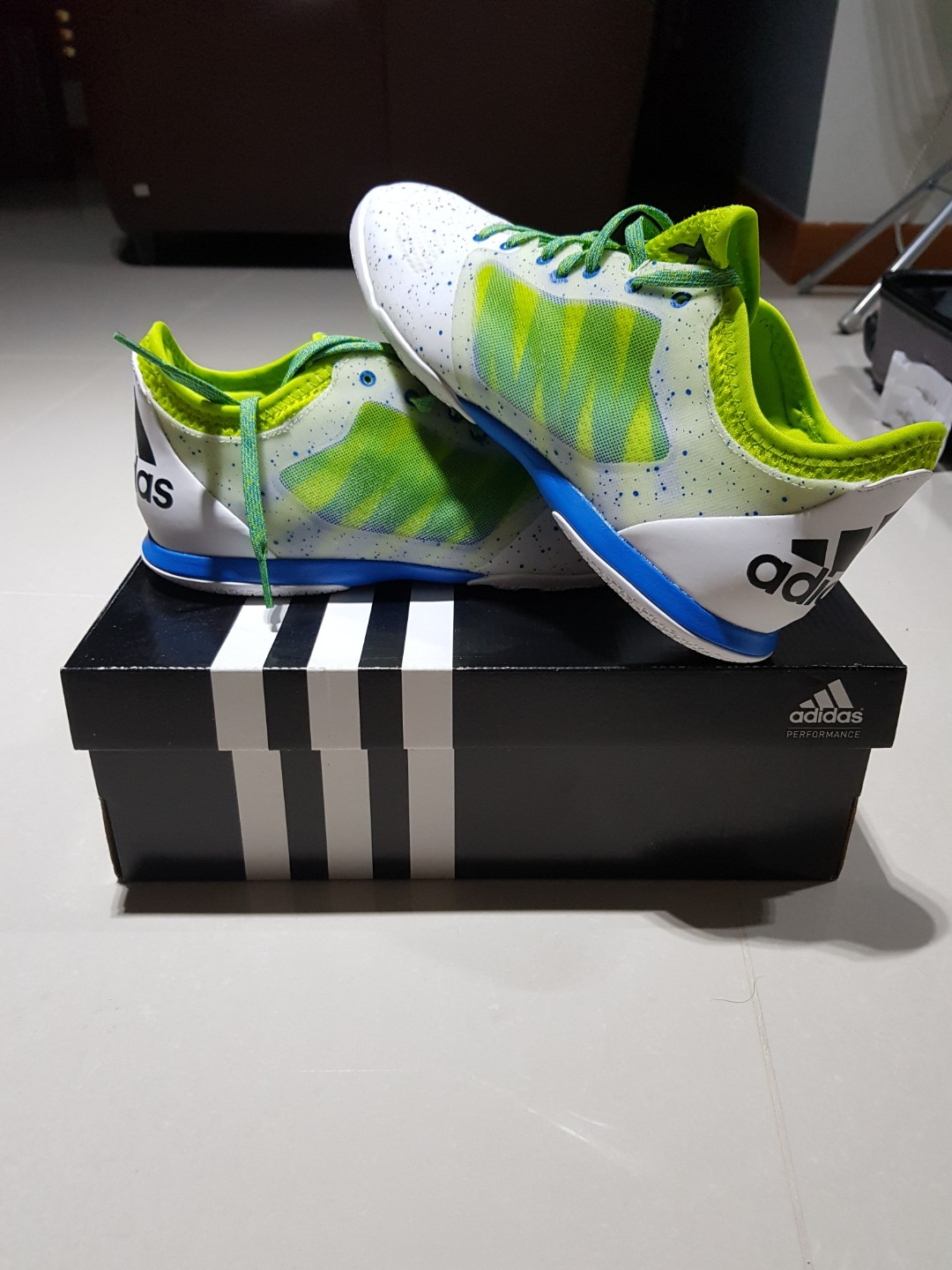 brand new ede79 fecf3 Adidas x 15.1 prime court soccer football shoes boots us9