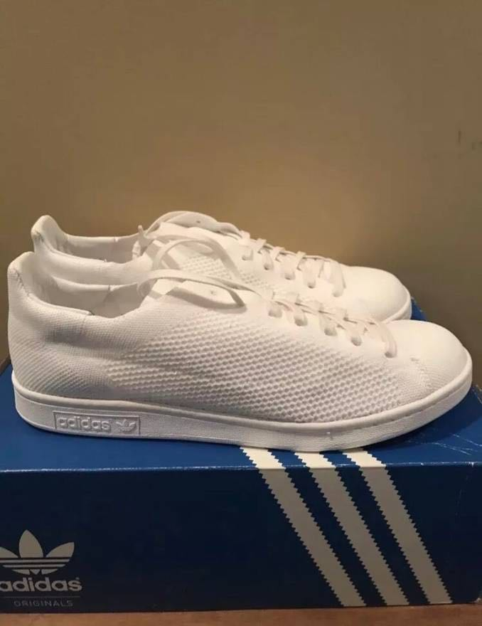 774991c24340 Adidas x Pharrell Williams Hu Stan smith BLANK CANVAS TRIPLE WHITE ...