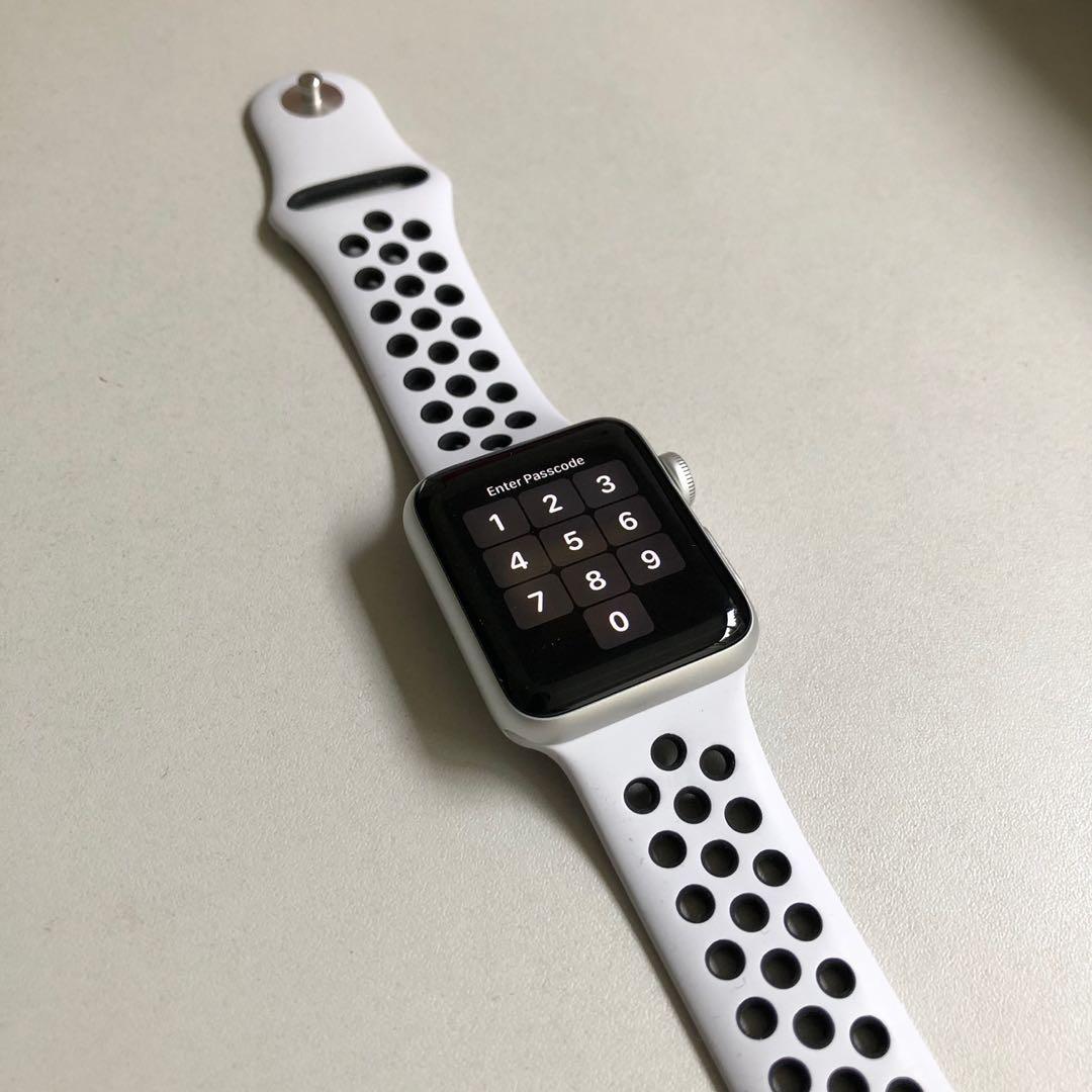 apple watch series 3 nike 38mm gps silver electronics. Black Bedroom Furniture Sets. Home Design Ideas