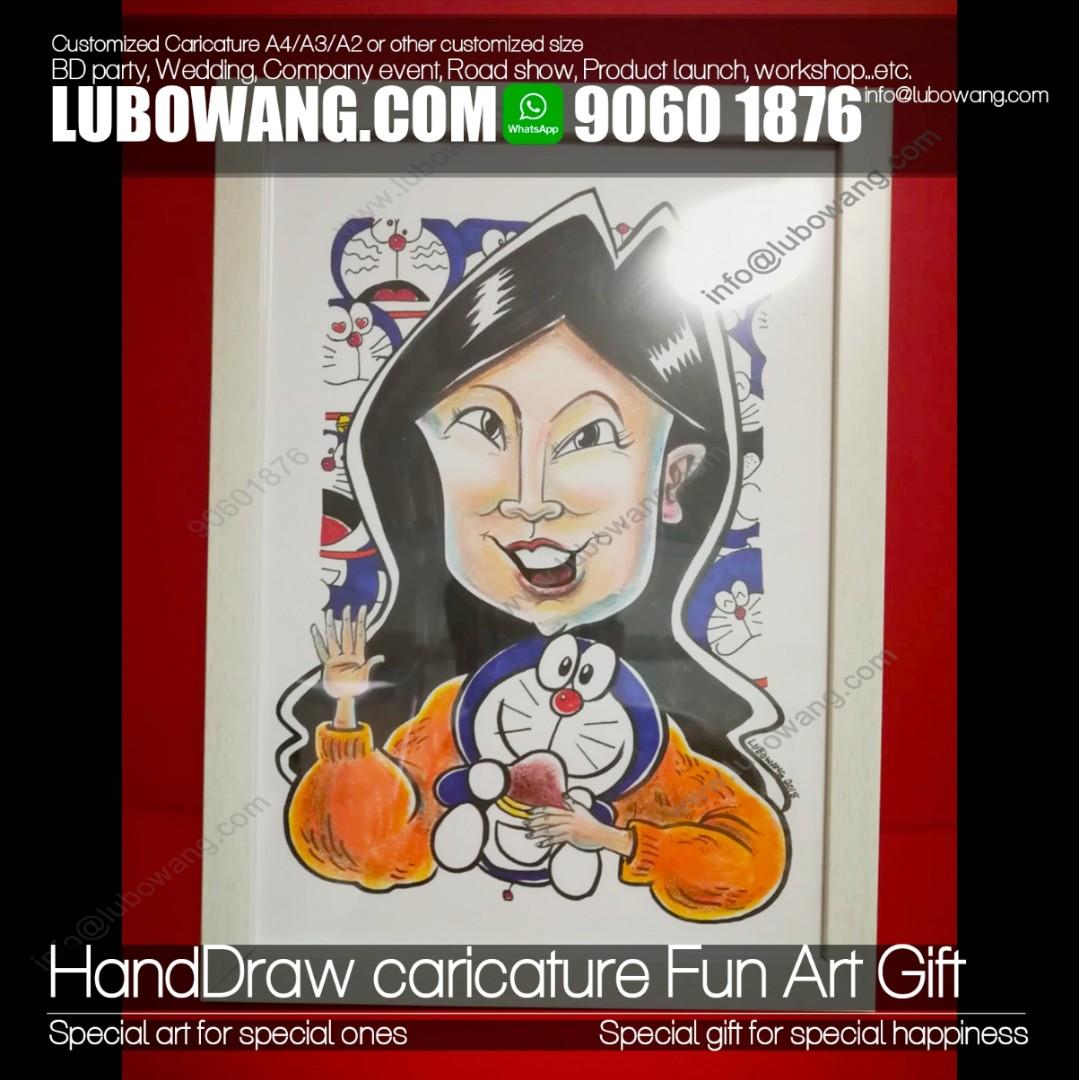 Art paper / card personlized caricature fun gift