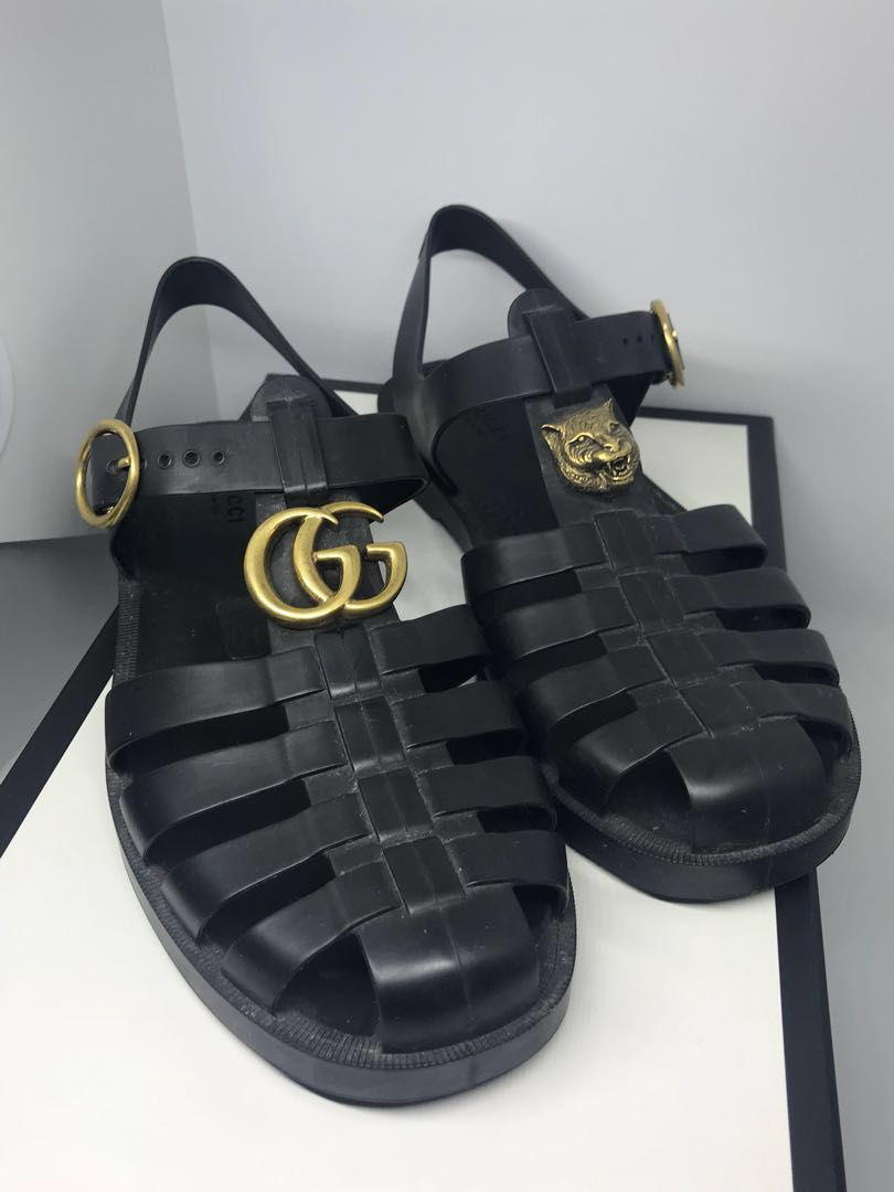 5a39018b2f58 Authentic Gucci Rubber Sandals