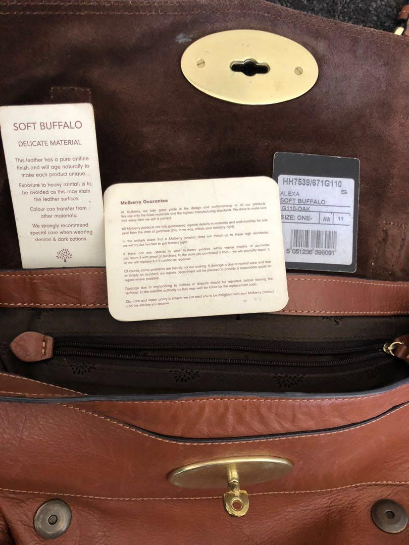 Authentic Mulberry Alexa bag in tan