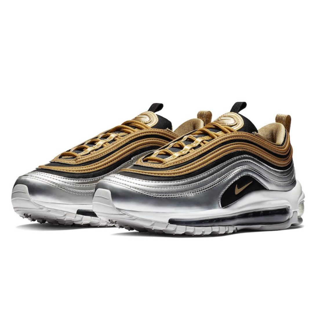 ef841abe90 Authentic NIKE AIR MAX 97 SE W GOLD, SILVER, BLACK & WHITE, Women's  Fashion, Shoes, Sneakers on Carousell