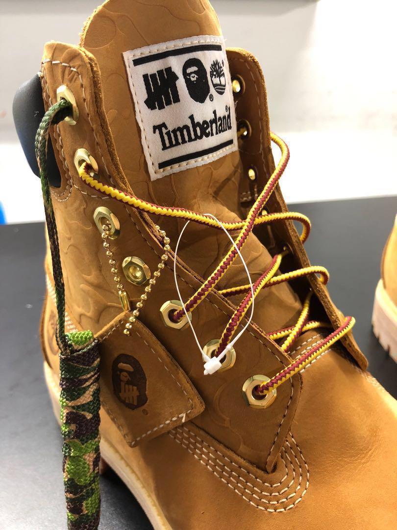 fd78384bd05b Bathing ape x timberland boots US10