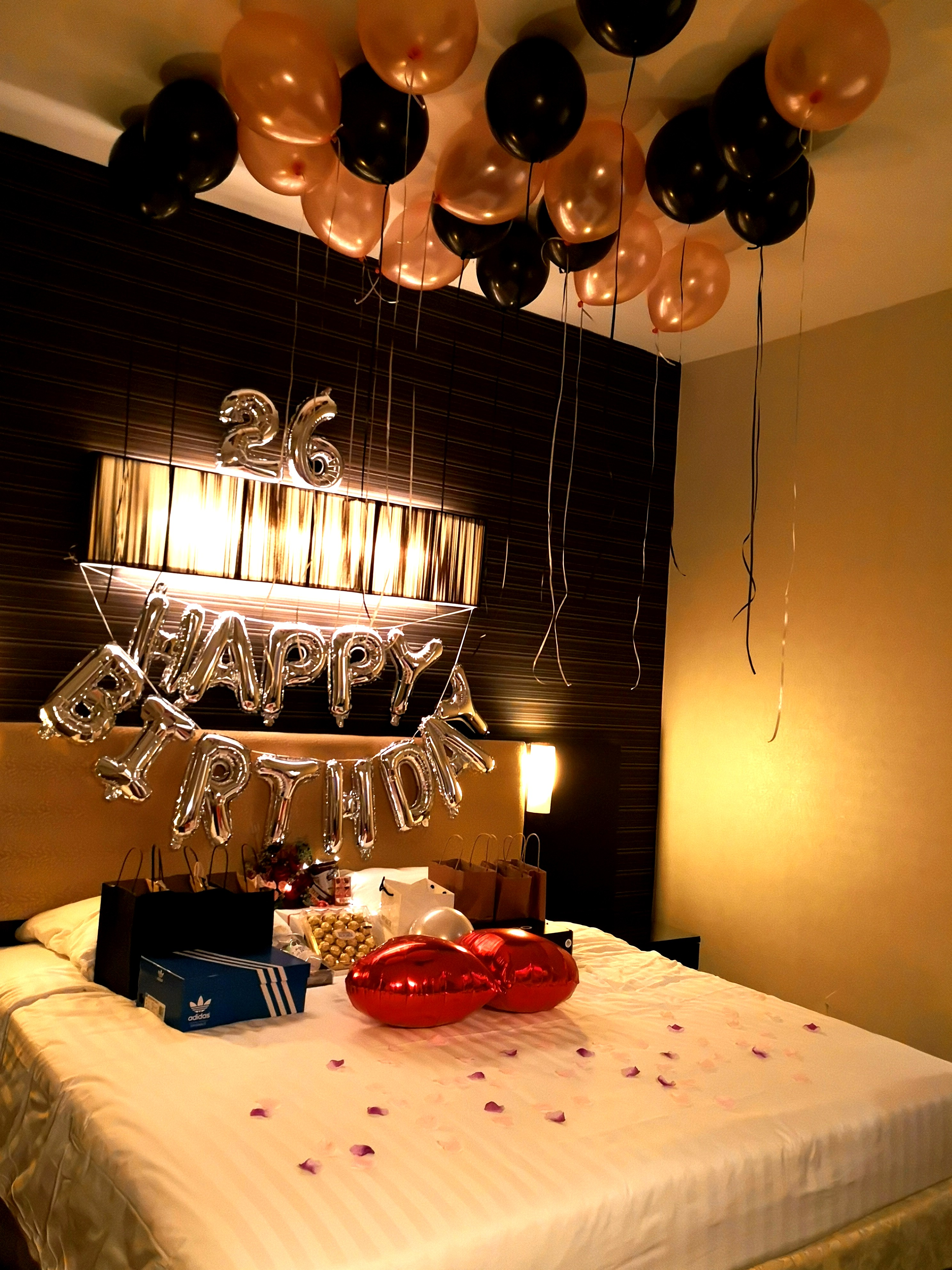birthday hotel room decoration setup everything else on carousell. Black Bedroom Furniture Sets. Home Design Ideas