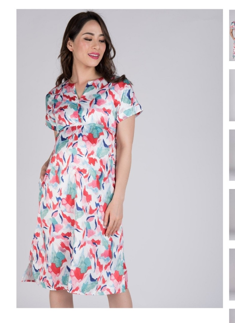 df562294fbbca BNWT Maternity/ Nursing Midi Dress Size S, Babies & Kids, Maternity ...
