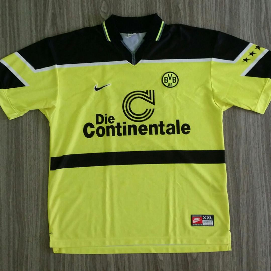 hot sale online a86f7 72fc5 Borussia Dortmund Nike 1997-98 Football Home Jersey XXL 2XL ...