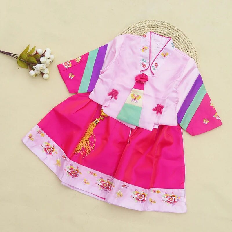 4108eb2db Brand new Baby Girl Korean Hanbok Traditional Dress Event, Babies & Kids,  Girls' Apparel, 1 to 3 Years on Carousell
