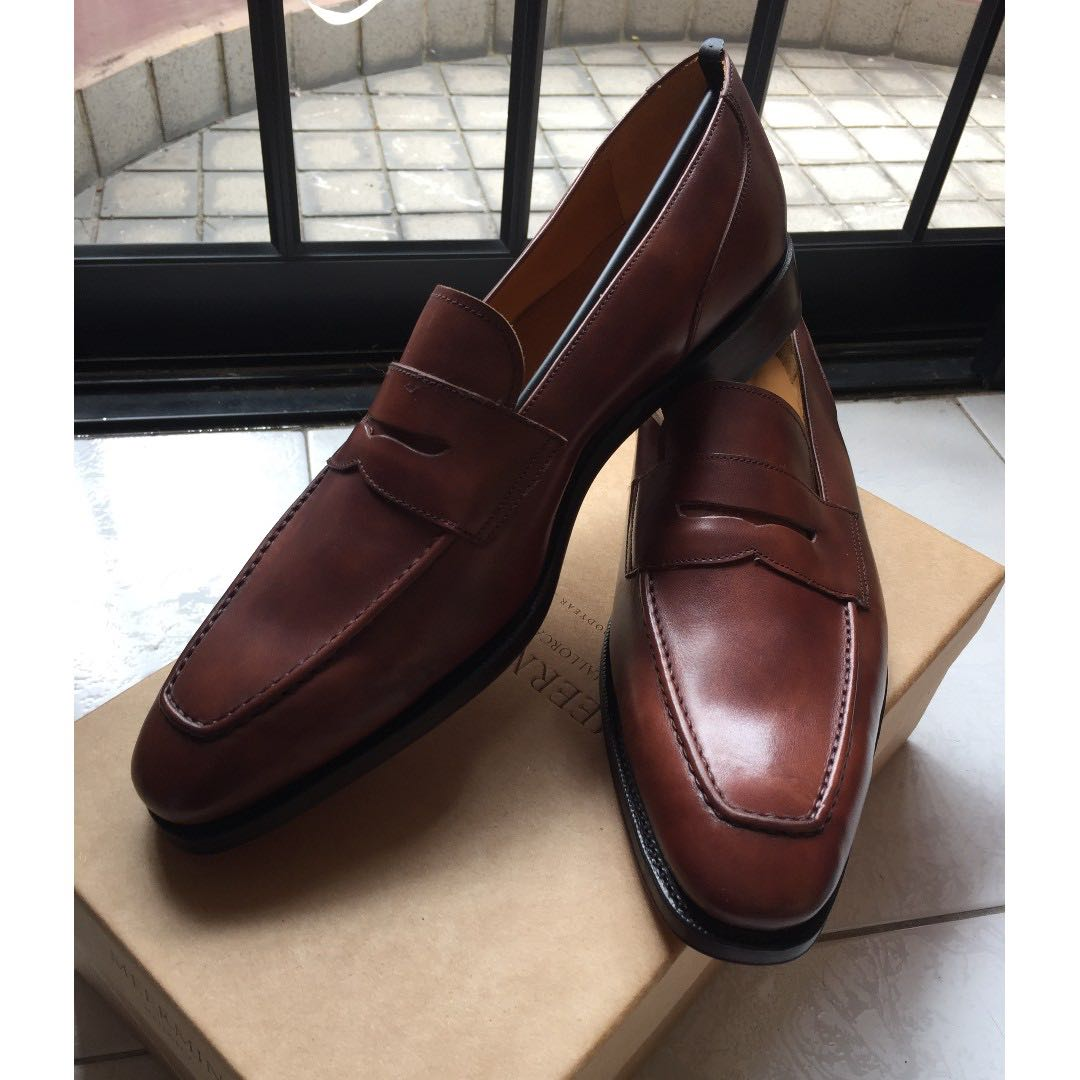 38c08722eb9 BRAND NEW  Meermin Cognac Museum Calf Penny Loafers