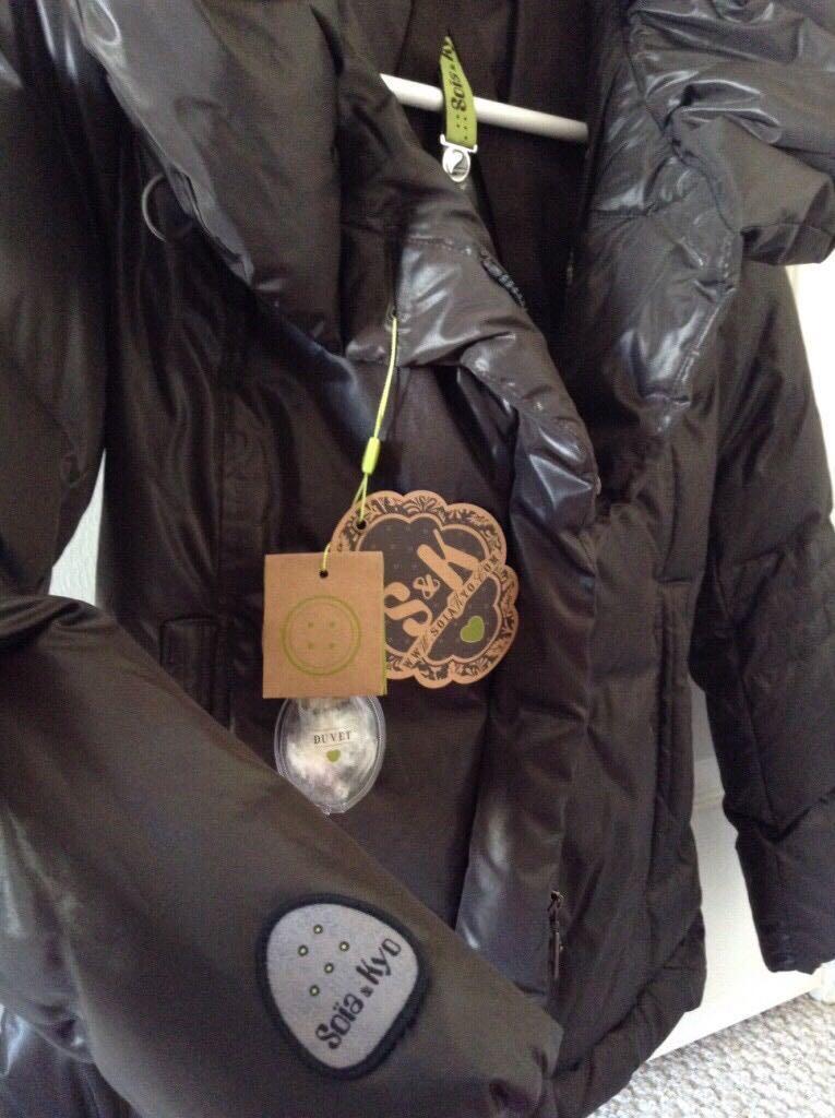 Brand new SOIA & KYO black puffer down filled duvet jacket