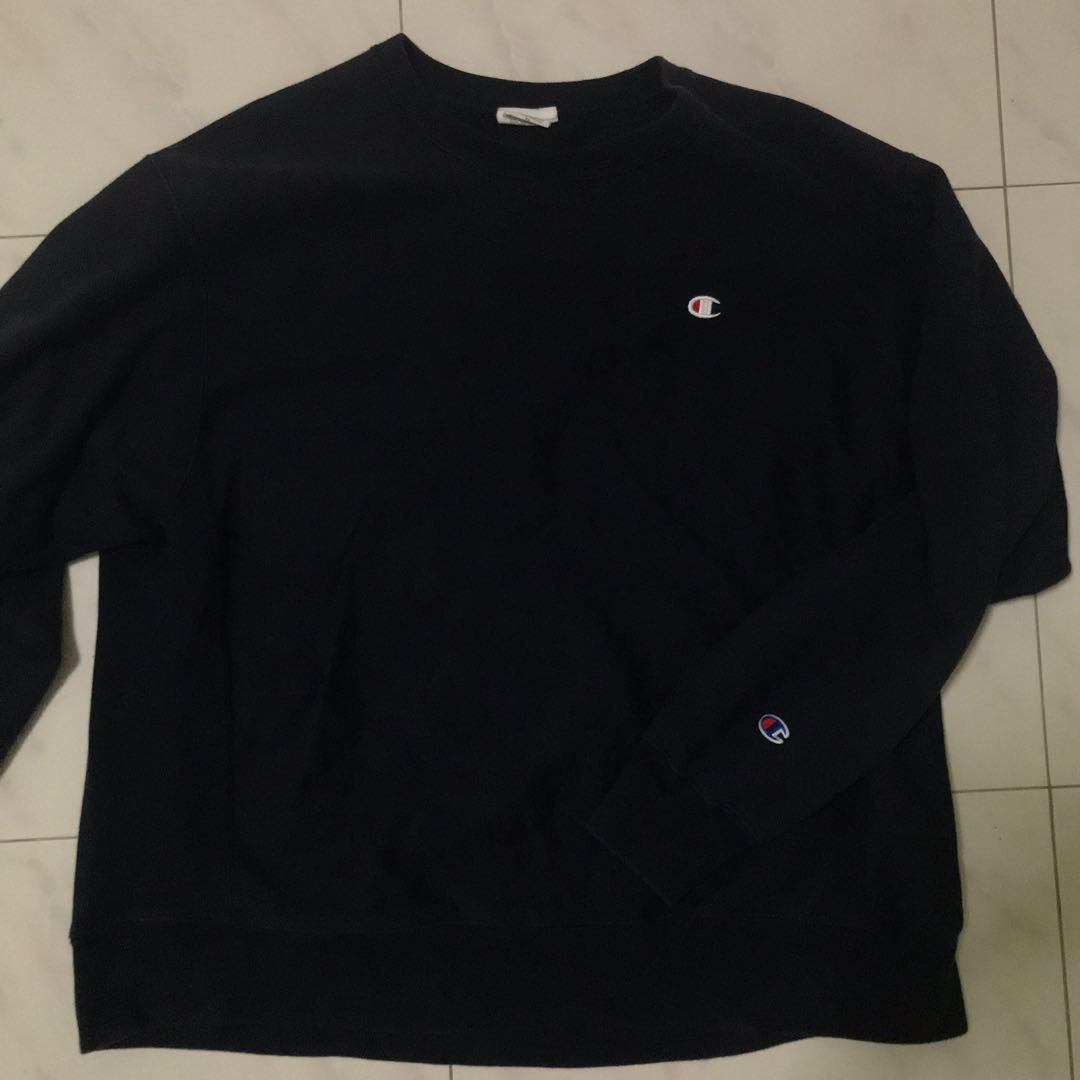 bd05fe8e9608 Champion Reverse Weave Navy Blue Pullover Sweater