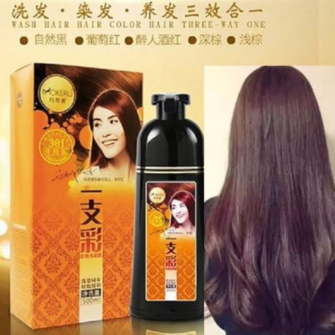 0480fe3cee9 Dark Brown Hair Color Dye Shampoo for Men Women  Anti White Hair ...