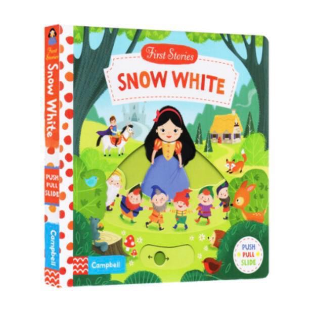 First Stories Disney fairy tales Snow White push pull and slide for  children toddler story book