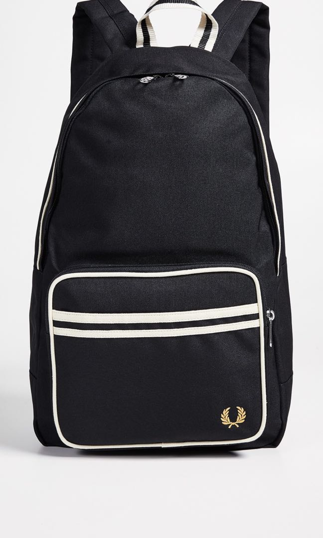6b3007947da166 Fred Perry Black Backpack, Men's Fashion, Bags & Wallets, Backpacks ...