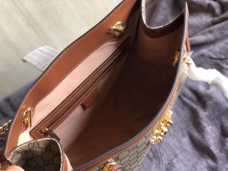 49890c2cd43 Gucci Padlock GG Supreme Tote Bag