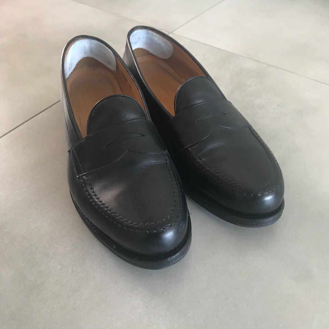 0680aa2cbeb Jalan Sriwijaya Handmade Black Penny Loafers Size UK 9   US 10 ...