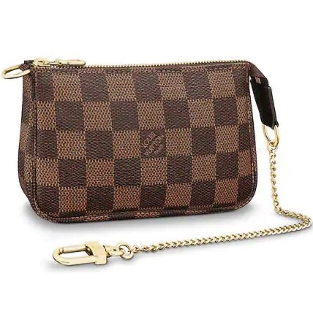 176738fec242f lv louis vuitton mini pochette damier ebene, Luxury, Bags & Wallets ...