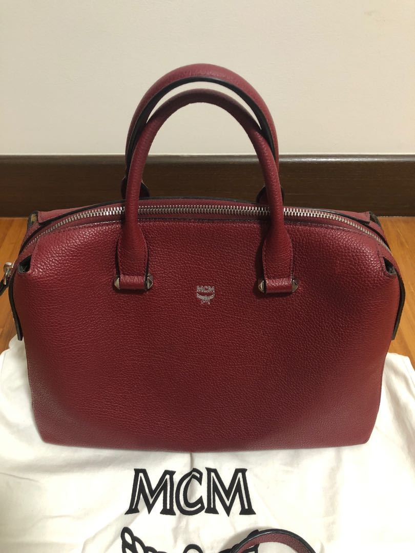 9256eaec628898 MCM Ella Boston Bag - Medium size