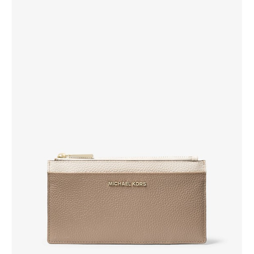 8cf35aef613a Michael Kors Large Tri-Color Pebbled Leather Card Case, Women's ...