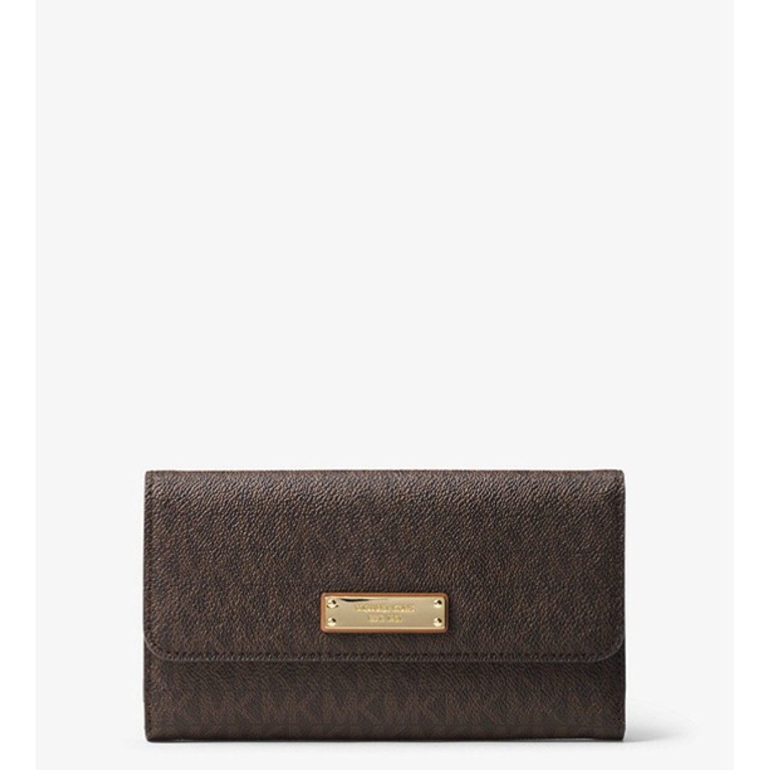 54eacbffe46d9c Michael Kors Logo Tri-Fold Wallet, Women's Fashion, Bags & Wallets ...