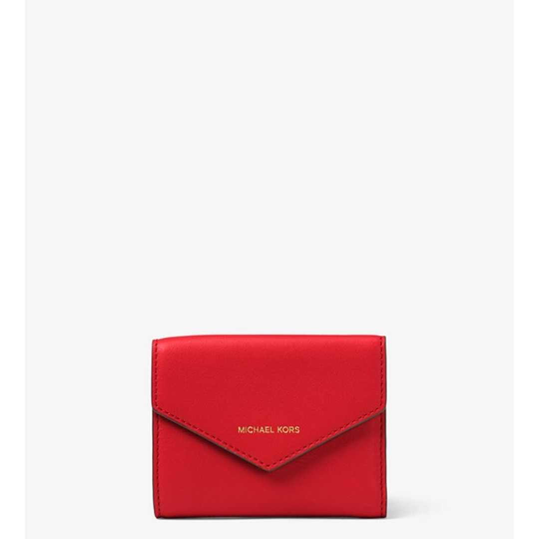 ced42122479c Michael Kors Small Leather Envelope Wallet, Women's Fashion, Bags ...