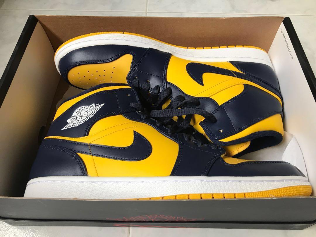 36bb15c612e4 Nike Air Jordan 1 Michigan Varsity Maize