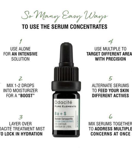 ODACITE Ba+S Eye Contour Serum Concentrate (Baobab + Sarsaparilla)