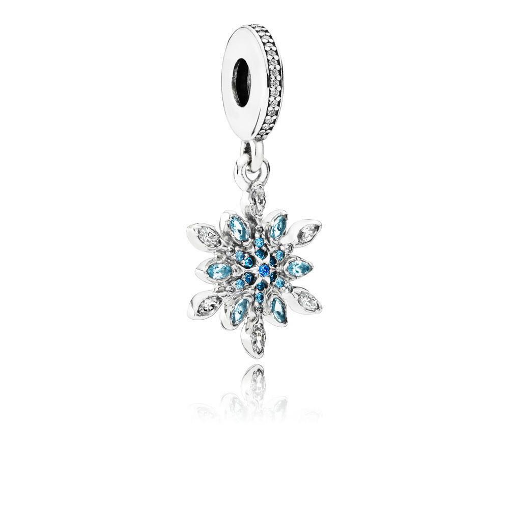 b27aeb38c PANDORA SNOWFLAKE SILVER DANGLE WITH CLEAR CUBIC ZIRCONIA AND MIXED ...