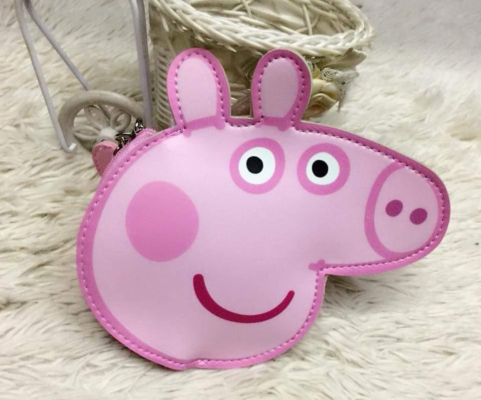 Peppa Pig All Over Print Wallet Girls Coin Purse