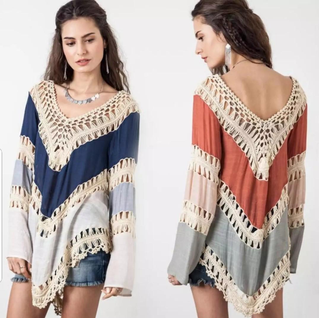 f925ccdb91 PO] Boho Beach Kaftan / Casual Top (7), Women's Fashion, Clothes ...